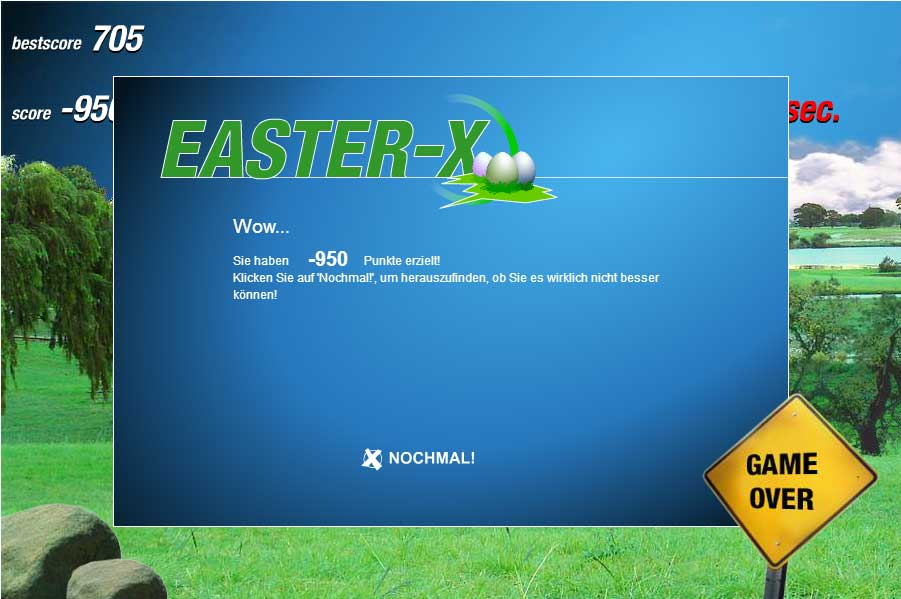 Screenshot von Easter-X
